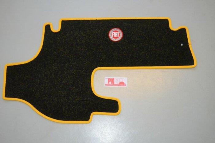 Luxe tapis coffre jaune Fiat500