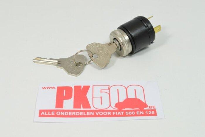 Contacteur à clé avec anneau chromé Fiat500 - Fiat600