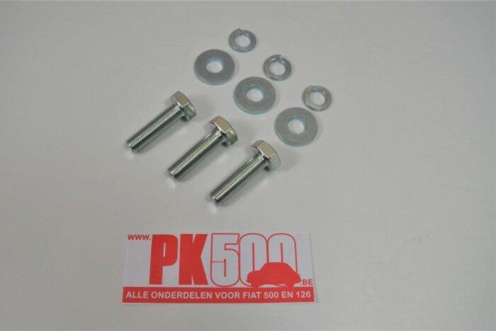 Set boulons (3p) bras d'axe/chassis Fiat500 - Fiat126