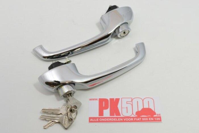 Deurkrukken met slot A-kw Fiat500FLR