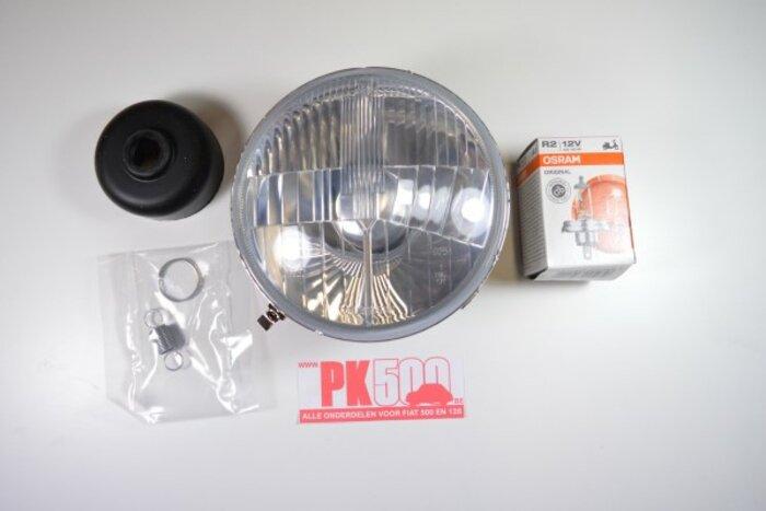 Phare sans anneau avec lampoule A-qual Fiat500
