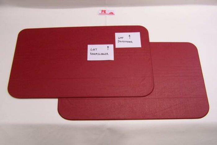 Set panneaux porte rouge amalfi Fiat500F