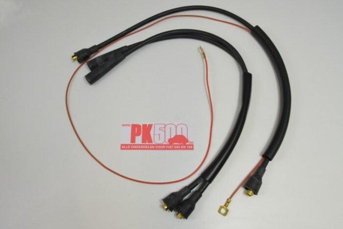 Câbles d'allumage, sil.noir Fiat500Gia
