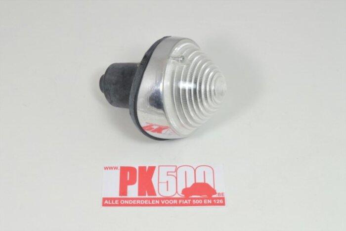 Clignoteur aluminium, incl.joint Fiat500D - Fiat600D