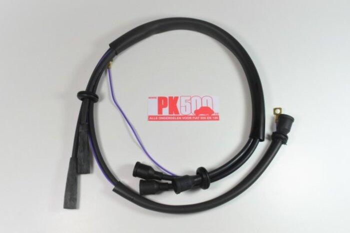 Câbles d'allumage sil.noir Fiat500NDF (1e série)