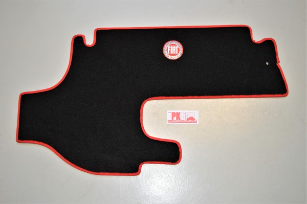 Luxe tapis coffre rouge Fiat500