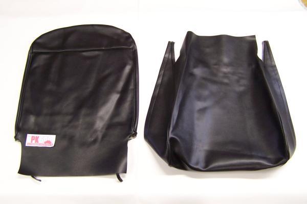 Complete bekledingsset  zwart Fiat500F
