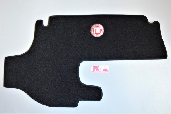 Luxe koffermat zwart Fiat500