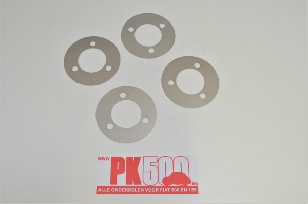 Set disques d'adaptation inox Fiat500 - Fiat126