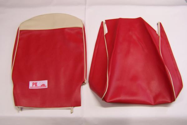 Jeu de housses de siège rouge bi-colore Fiat500F