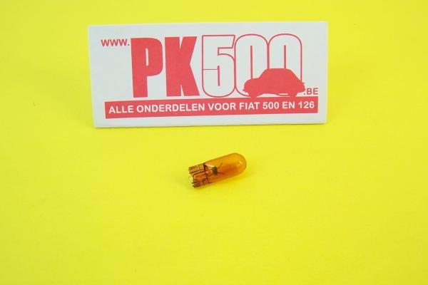 Steeklamp knipperlicht oranje 12v-5w