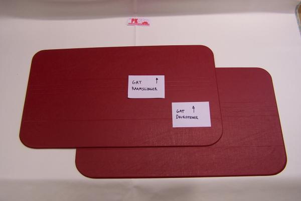 Set panneaux porte rouge Fiat500R