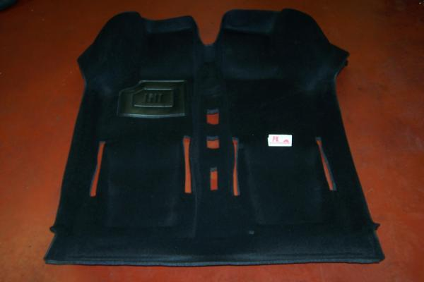 Tapijt 1-delig zwart Fiat500 - Fiat126