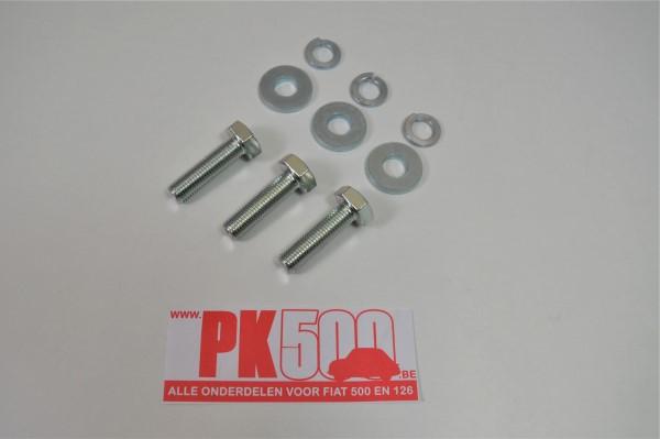 Set bouten (3st) draagarmsteun/chassis Fiat500 - Fiat126
