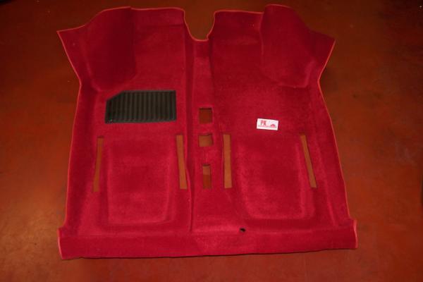 Tapijt 1-delig rood Fiat500 - Fiat126