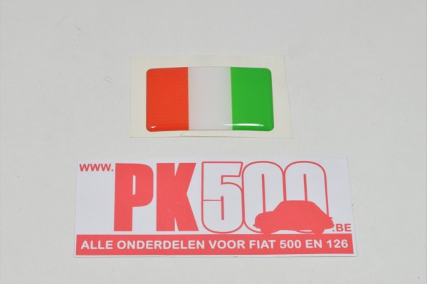 Italiaanse vlag, 3D-sticker
