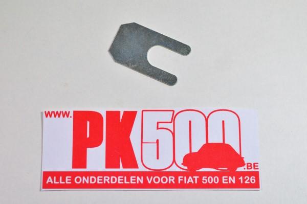 shim 0,7mm triangel voorzijde Fiat500 - Fiat126 - Fiat600