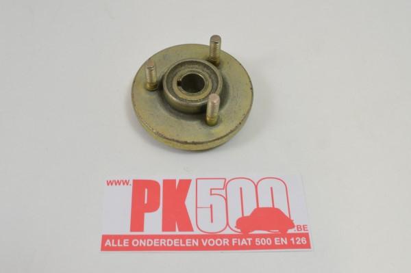 Poelie gelijkstroomdynamo voorzijde Fiat500 - Fiat126