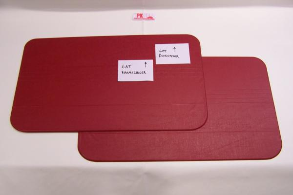 Set deurpanelen amalfi rood Fiat500F