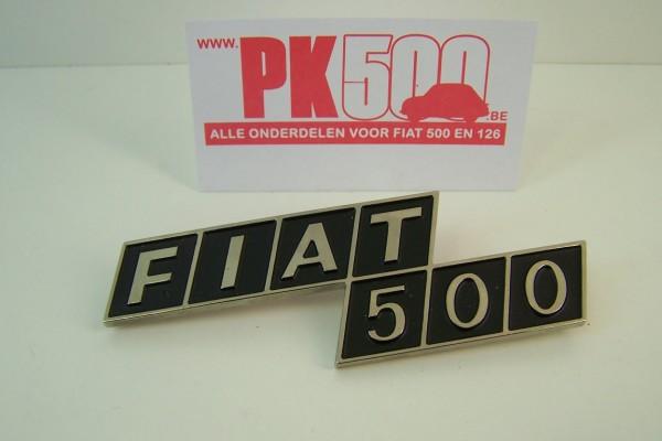 Achterembleem metaal 'Fiat500'