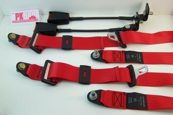 Ceinture de sécurité 3-points, rouge (par set)