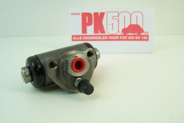 Wielremcilinder achter Fiat500NDFL -Fiat600D