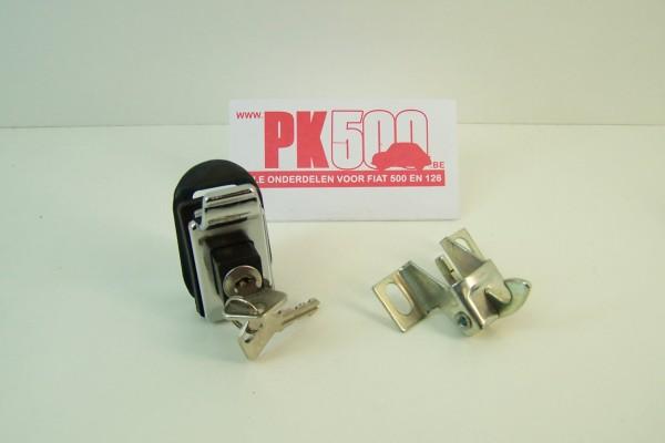 Motorkapslot met drukknop Fiat500 - Fiat600