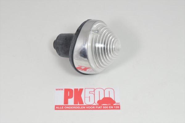Knipperlicht aluminium, incl. rubber Fiat500D - Fiat600D