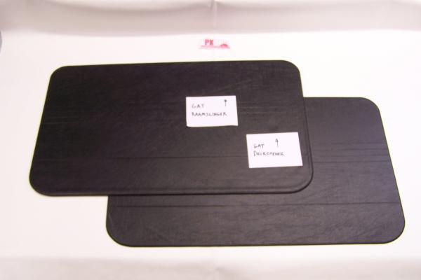 Set deurpanelen zwart Fiat500R