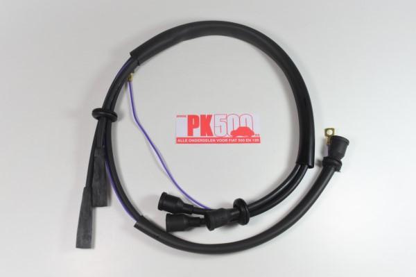 Bougiekabelset zwart sil. Fiat500ND/F 1e serie